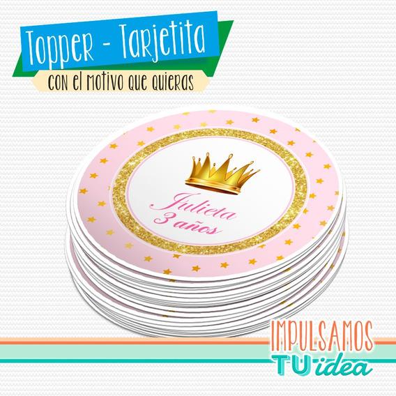 Cumple Coronita - Fiesta Princesa Tarjetita Para Imprimir