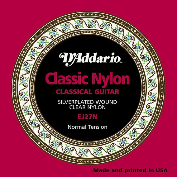 Juego Cuerdas Guitarra Acustica Clasica Nylon Daddario Ej27n Envio Inmediato +
