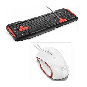 Kit Gamer Pc Teclado Gamer Red Mouse Gamer Laser 6 Botões