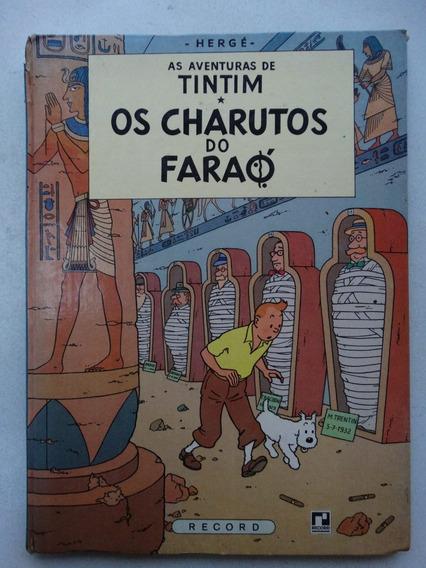 Tintim! Os Charutos Do Faraó! Record 1970! Capa Dura!