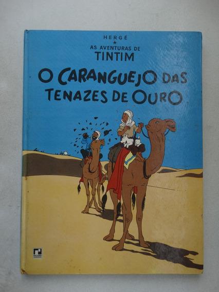 Tintim O Caranguejo Das Tenazes De Ouro! Record 1970 C. Dura