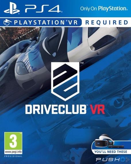 Drive Club Vr - Exclusivo Ps Vr - Ps4 Original*1