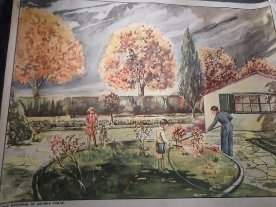 Poster Antiguo Caja Nacional De Ahorro Postal Nº 3
