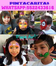 Servicio De Pintacaritas Caballetes Shows Infantiles Df