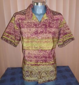 City Streets Camisa Estampado Oriental / Bambu Talla Xl