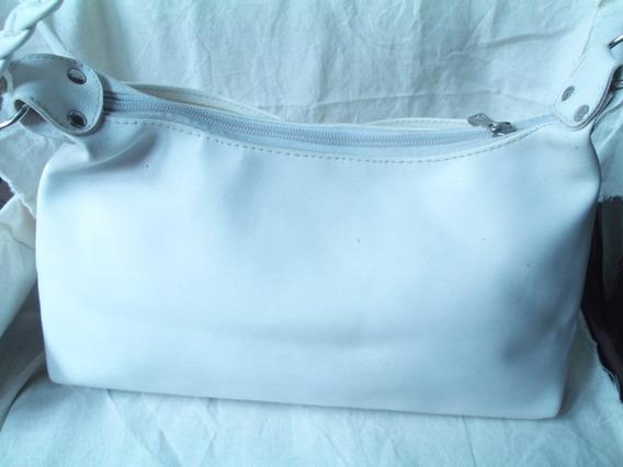Gp1160 Cartera Símil Cuero Blanca $100