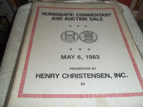 Catálogo Numismatic Commentary And Auction Sale Maio 1983/