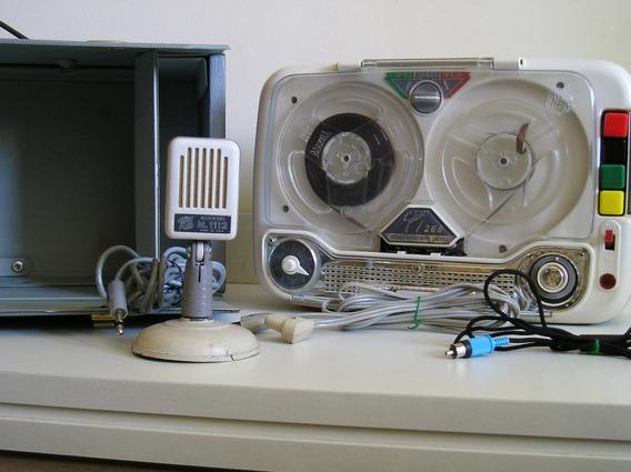 Gravador Vintage Geloso Fabricado Em Fev 1963 Ótimo Estado!