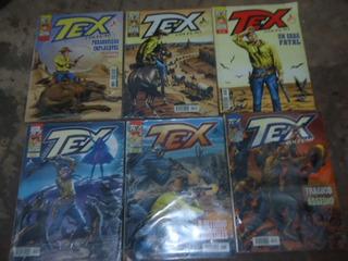 /lote 52 - 06 Revista Tex Coleção, 144/168/169/171/172/174
