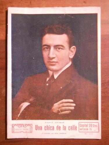 Una Chica De La Calle. Julio Escobar Revista Bambalinas 1927