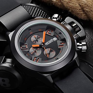 Megir®brand Relógio Popular Dos Homens Data Cronógrafo Re