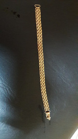 Pulseira De Prata Banhado De Ouro