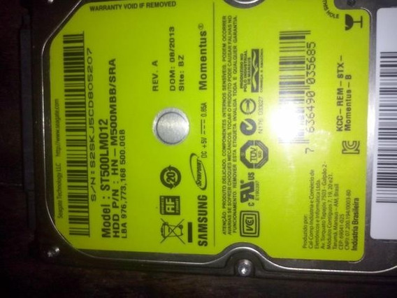 Hd Sata 500 Gb Samsung Pra Notebook