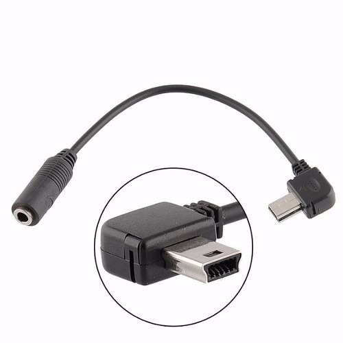 Gopro Cabo Adaptador Mono Microfone Hero 3,5mm X Mini Usb