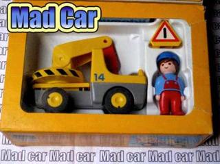 Mc Mad Car Playmobil 1 2 3 Camion Construccion 1990 6703