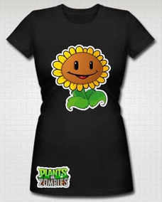 Paquete 4 Playeras Plantas Vs Zombies Niño-adulto