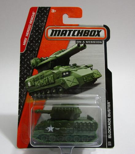 Blockade Miniatura Tanque Guerra Coleccion Matchbox  B4