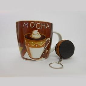 Caneca De Cerâmica Com Chaveiro Mocha 037-6012abc