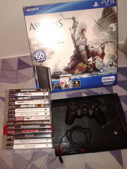 Playstation 3 Ps3 500gb Com 17 Jogos Entrego Em Casa (rj)