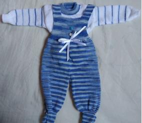 Conjunto Bebê Lã Macacão E Blusa