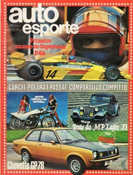 Auto Esporte Nº160 Chevette Gp Corcel Polara Passat Mp Lafer