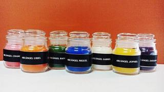 Velas Aromáticas De Los 7 Arcángeles (los 7 Colores) 7 Pz