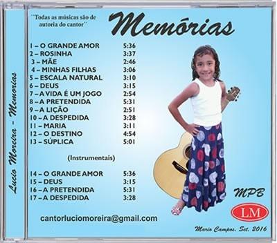 Cd Do Cantor Lucio Moreira As Melhores Músicas