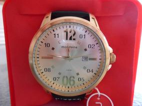 Relógio Analógico Mondaine Com Mostrador Champanhe