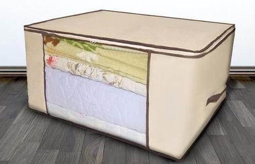 Capa Porta Edredon Organizador Cobertor Toalha Roupa