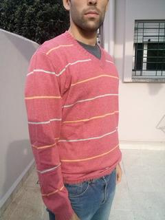 Sweater Hombre- Hilo+lana # 100% Natural. Acepto Bitcoins.
