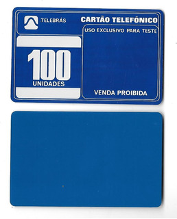 1939 Teste Azul Sem Fichas, Ct Pioneiro Telebrás