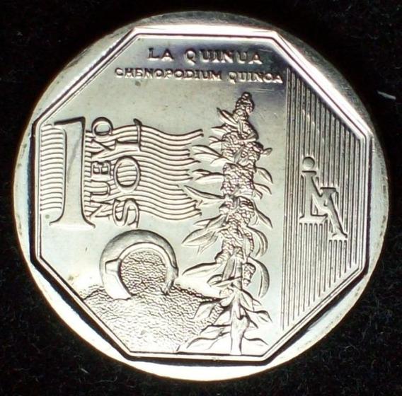 Peru Moneda Naturaleza De Peru La Quinua 1 Nuevo Sol 2013