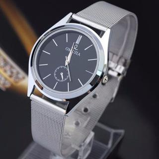 Relógio Clássico Pulseira Em Inox Prateado Super Promoção