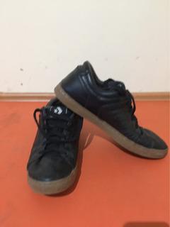 Zapatos Converse Classic Color Negro Suela De Hule