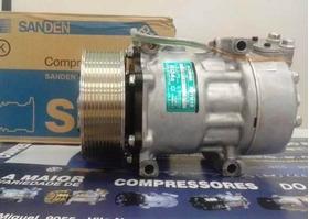 Compressor 7h15 Scania 2013 - 10pk Original Sanden 1888033