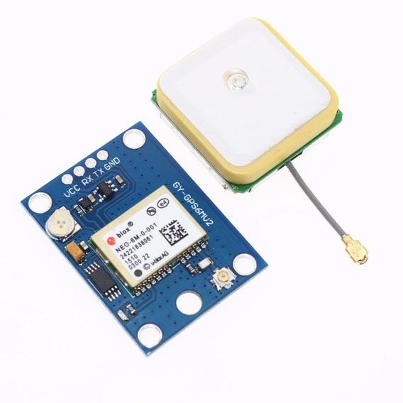Módulo Gps Para Arduíno E Raspberry Ublox Neo-6m Gy Neo6mv2