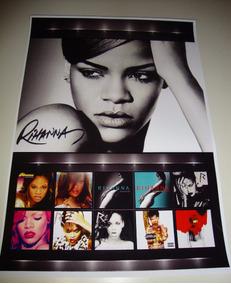 Poster De Coleção Rihanna Cd Rihanna Diva Pop Rihanna Anti
