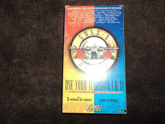 Vhs- Guns N Roses- Use Your Illusion 1 E 2/ Live In Tokio