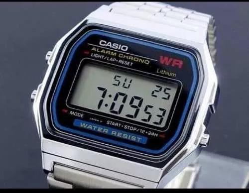 Relogio Casio Retro Prata-original