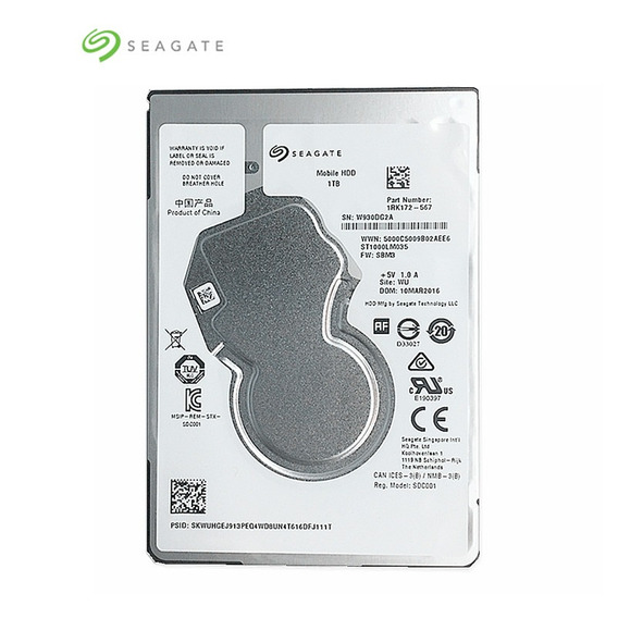 Hd 1tb Seagate Sata3 5400rpm 128mb Slim Pra Notebook