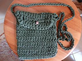 Bolsa Em Crochê Verde