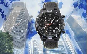 Relógio Masculino Luxuoso Gt Quartz Esportivo Analogico