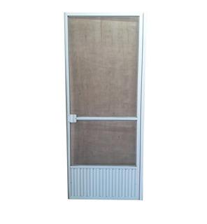 Puerta Mosquitero Aluminio Blanco Vaivén 70 X 200 Cms