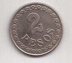 Paraguay Antigua Moneda De 2 Pesos Año 1925 !