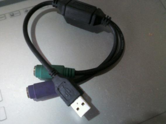 Adaptador Ps2 Para Usb (teclado E Mouse)