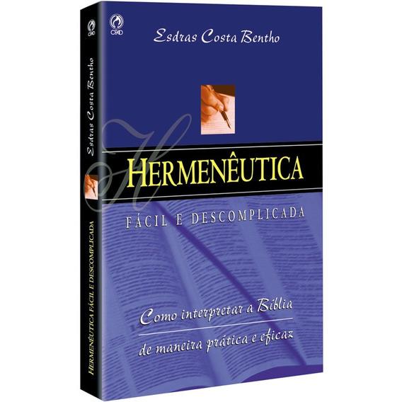 Hermenêutica Fácil E Descomplicada Livro Brochura