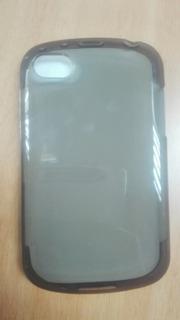 2 Forro Estuche Tpu Acrigel + Vidrio Para Blackberry Q10