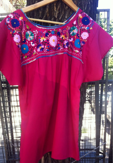 Blusa Camisola Bordada Mexicana