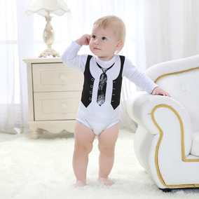Body Bebê Manga Longa Gravata Menino