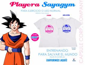 Playera Goku Sayagym Para Dama